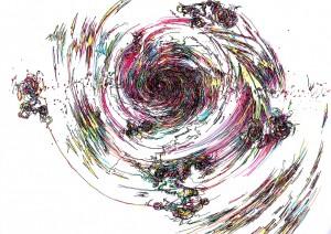 [White Vortex] ブラックフォールは白い虹の渦